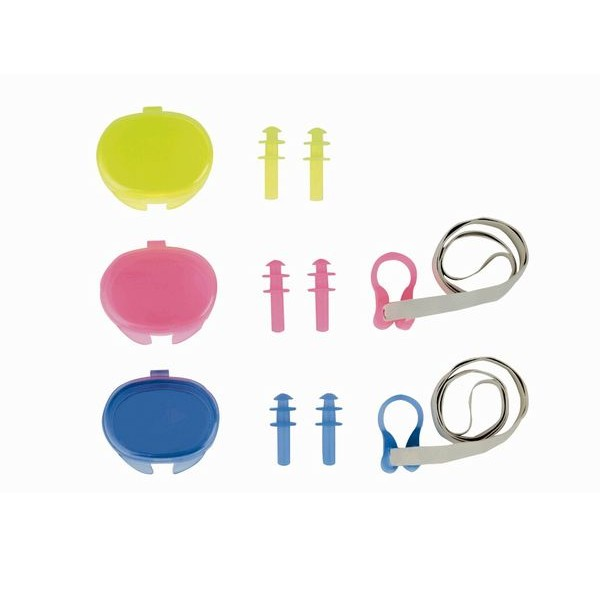 Ear plugs and nose clip set